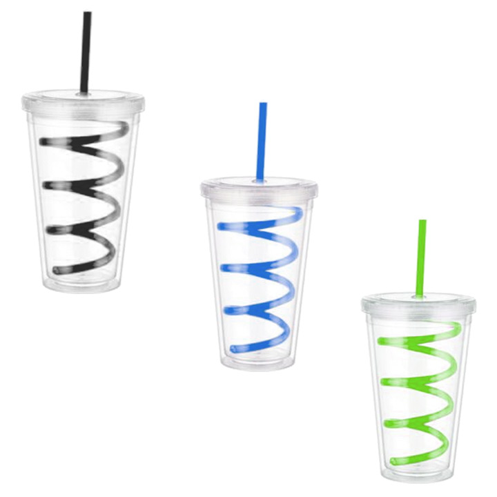 Double Layer Acrylic Cups